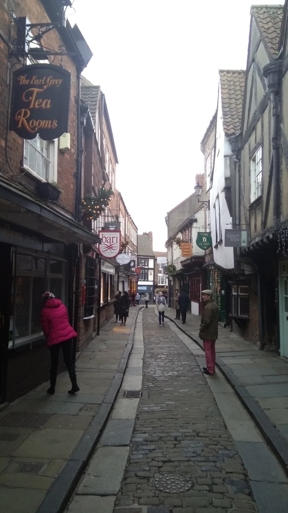 Walking around The Shambles in York, England