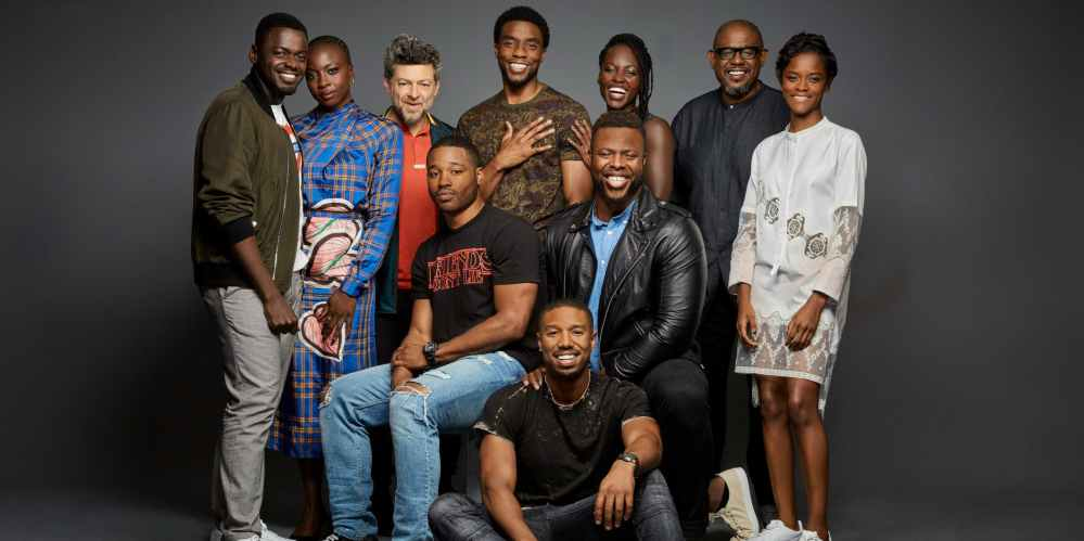 The main cast of Marvel's Black Panther movie.