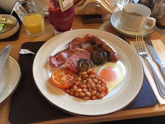 Full English breakfast at Chelmsford Place Guest House, York.