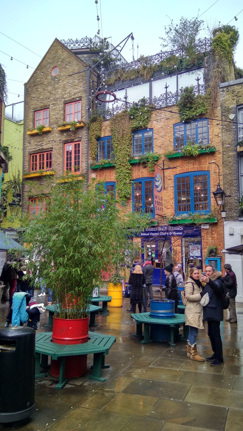 Neil's Yard in Covent Garden, London.