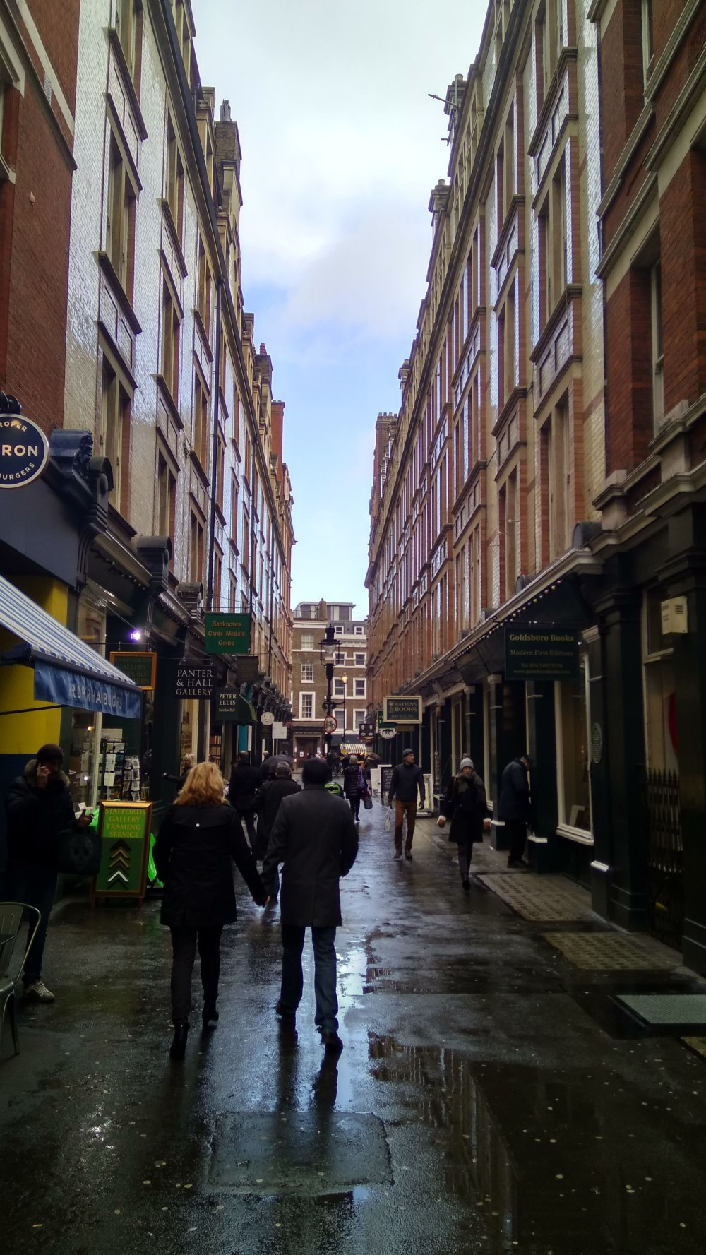 Cecil Court, WC2 - this location was also used for the Diagon Alley scenes .